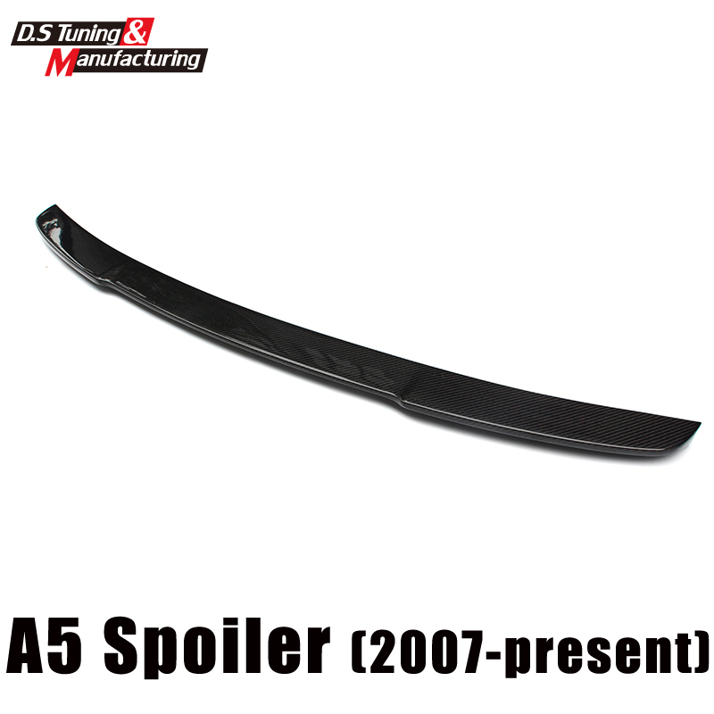 Gloss black Vorsteiner v style carbon fiber rear spoiler trunk wings for Audi A5 2007-2016 2-door coupe 2015 2016 amg style w205 carbon fiber rear trunk spoiler wings for mercedes c class c180 c200 c250 c300 c350 c400 c450 c220
