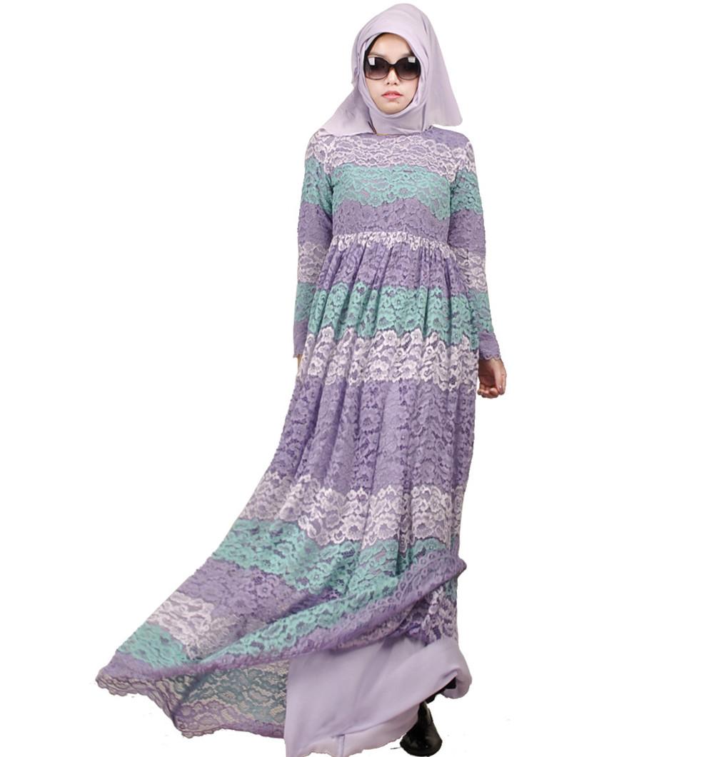85f0ddfeabee 2016 mulheres muçulmanas vestem caftan djellaba moda abaya plus size laço  longo vestido turco dubai robe tradicional árabe roupas KJ