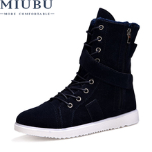 MIUBU Spring/autumn Men Quality Brand Military Leather Boots Special Force Tactical Desert Combat Boats Outdoor Shoes Snow Boots zenvbnv winter autumn men snow military boots quality special force tactical desert combat ankle boats army work leather shoes