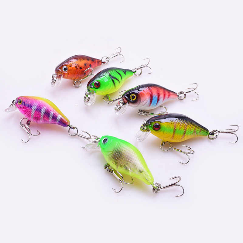 1Pcs Mini Crankbait Fishing Lure Topwater Wobblers Artificial Japan Hard Bait Swimbait Minnow Trout Bass Carp Fishing Tackle