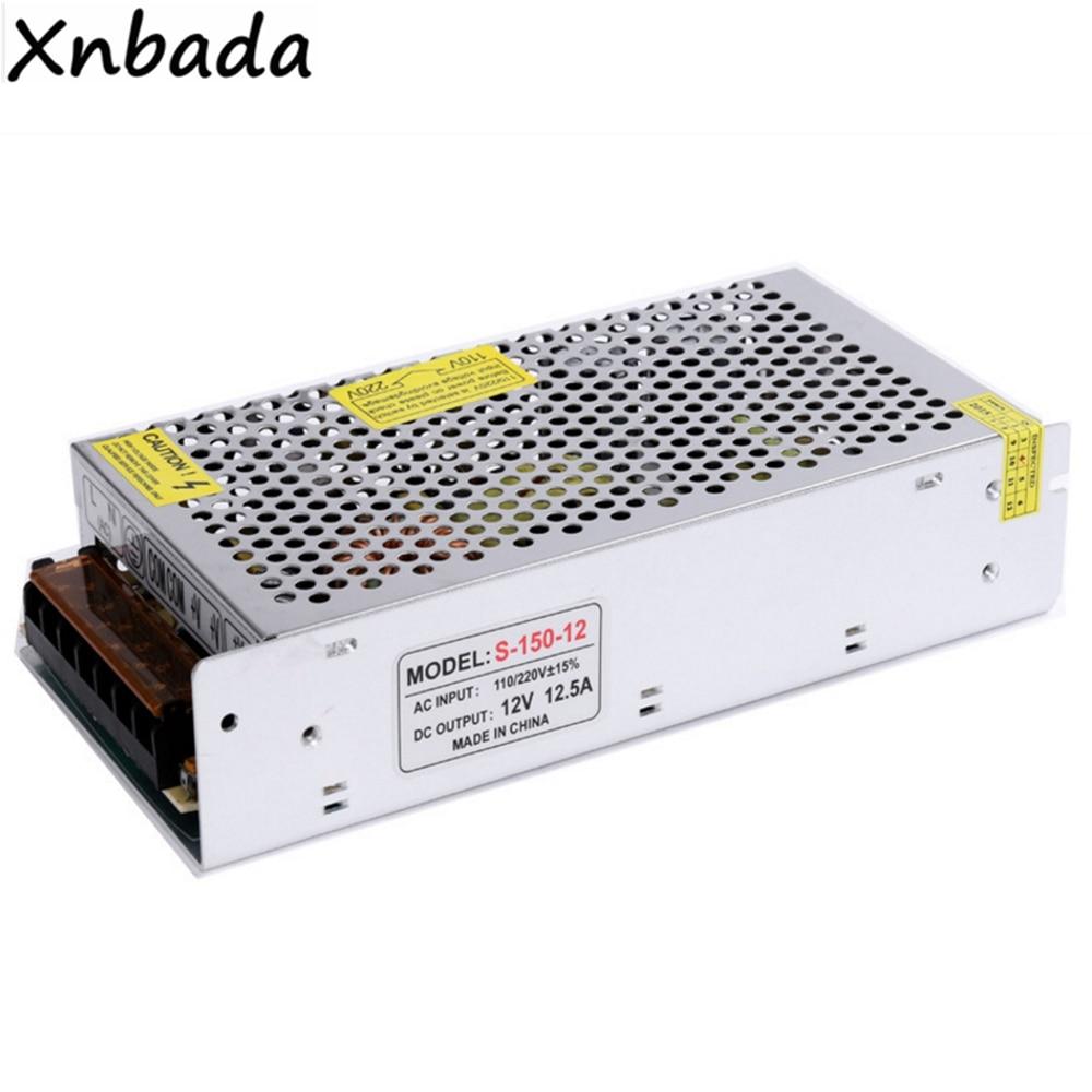 AC100-240V To DC12V 12.5A Led Switch Power Supply Transformer 150W Led Power Driver Adapter ac100 240v dc18 35v 300ma 6 9 x1w led driver power supply converter adapter