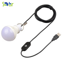 5V 5W Camping LED Bulb USB Port Touch Switch Outdoor LED Light 10 LEDs Energy Saving