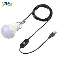 5V 5W Camping LED Bulb USB Port Touch Switch Outdoor LED Light 10 LEDs Energy Saving