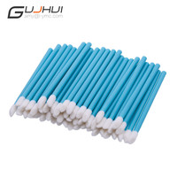 GUJHUI 50PC Disposable Lip Brush Wholesale Gloss Wands Applicator Women Make Up Tool Gift For Beauty  A01