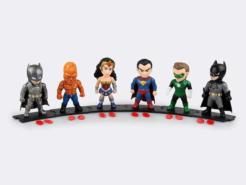 Hot 6 pçs/lote 9.5 cm pvc anime figura Liga Da Justiça super homem/batman action figure modelo brinquedos brinquedos