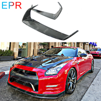 For Nissan GTR R35 (2009 2011) Carbon Fiber Eyebrow Body Kit Tuning Part Auto Trim Racing Accessories For R35 GTR Eyebrow