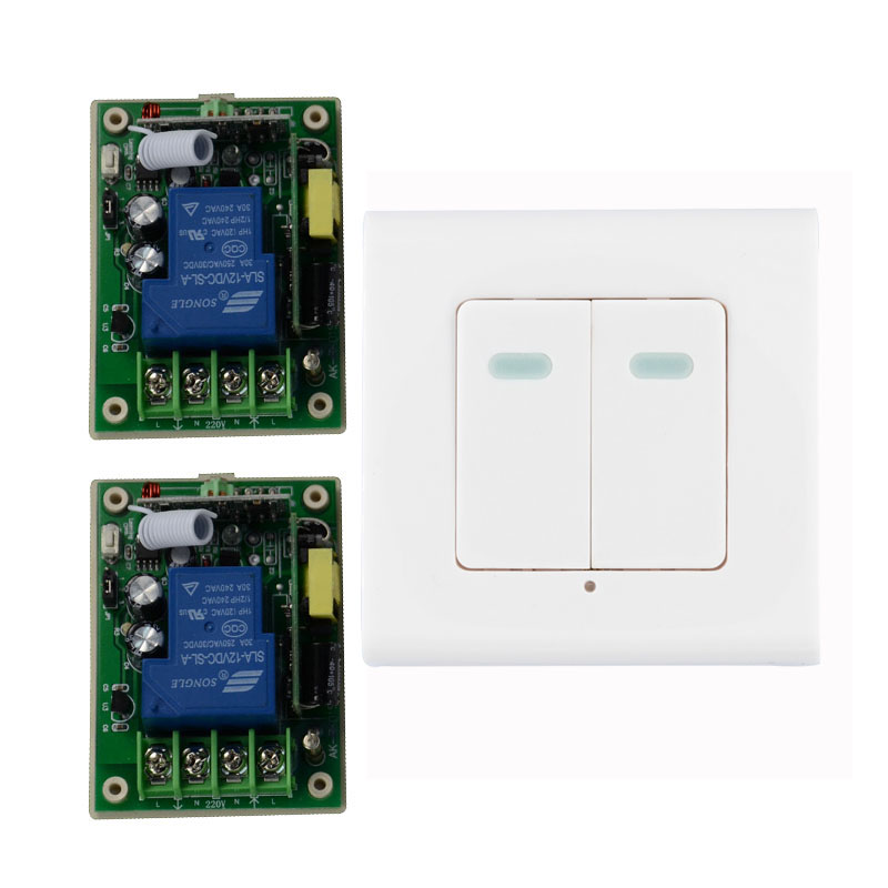 Smart Home AC85V 110V 220V 250V 3000W RF Wireless Remote Control Switch System For Light With 315Mhz Wall Transmitter best price ac85v 110v 220v wireless remote control switch with manual button 4receiver and 1transmitter smart home 315 433mhz