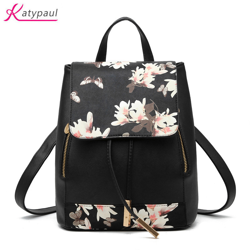 Backpacks Brand Summber Stamper Backpack Women School Bags For Teenagers Girls High Quality Leather Backpack Fashion Printing Backpack Traveling Luggage & Bags