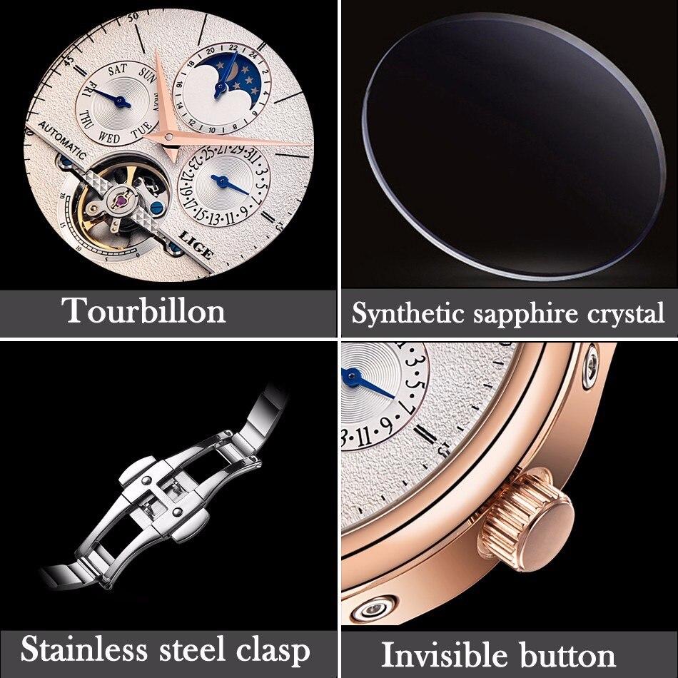 HTB10Fj2fk9WBuNjSspeq6yz5VXaK LIGE Brand Men Watches Automatic Mechanical Watch Tourbillon Sport Clock Leather Casual Business Wrist Watch Gold Relojes Hombre