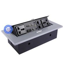 цена на Universal power Tabletop socket /hidden/VGA,3.5MM audio,HD HDMI, USB, network,RJ45  Information outlet box /desktop socket /A05