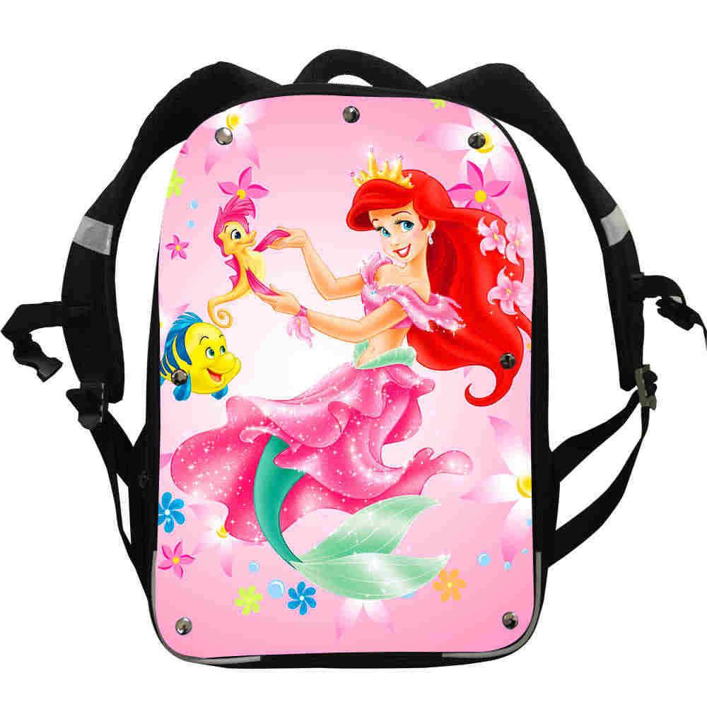 Mermaid Anime Zaini Principessa Ariel Animale Personalizzata Istinto Delle Ragazze Dei Ragazzi Adolescente Borse da Scuola Mochila Lunch Box Scatola di Cassa di Matita