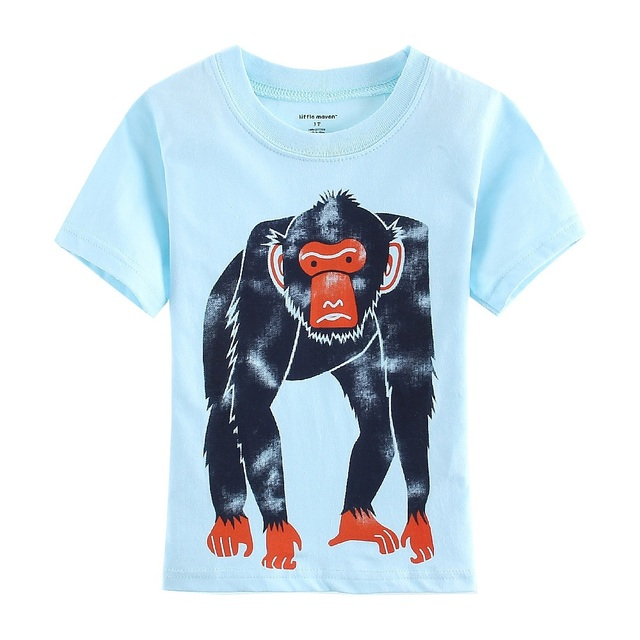 f0003036c7068 Apes Baby Boys T-Shirts Blue Monkey Jersey Gorilla Fashion Children T Shirt  Outfits Summer 100% Cotton Kids Tee Shirts 1-6Year