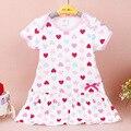 Crianças vestido Floral para o bebê recém-nascido meninas vestidos bonitos dos miúdos roupas de algodão infantil de manga curta vestido de verão do bebê vestido de verão