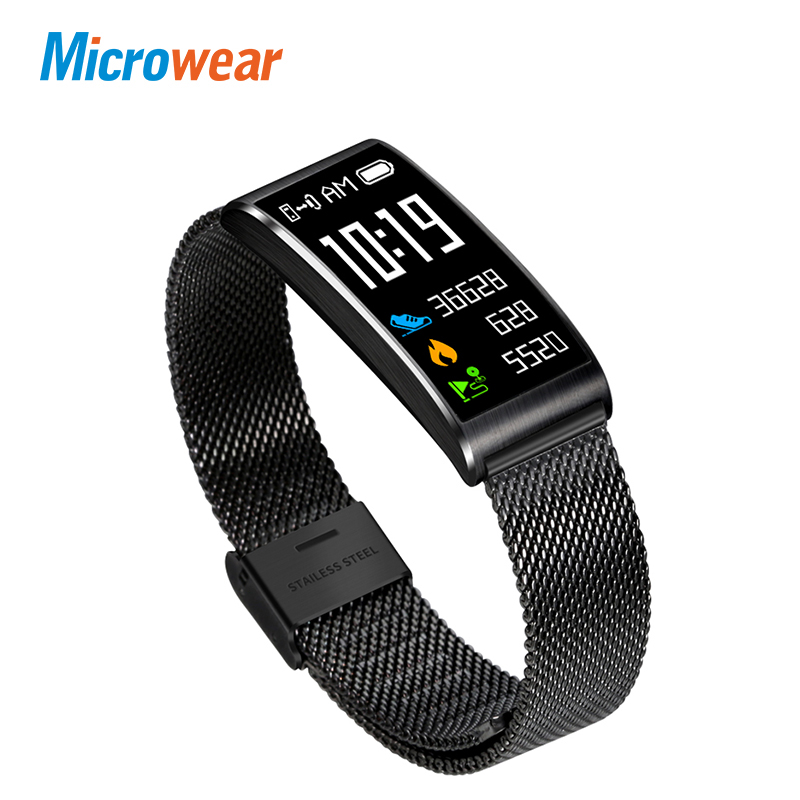 Microwear X3 IP68 Waterproof smart fitness bracelet pedometer blood pressure smart wristband Android iOS fitness tracker