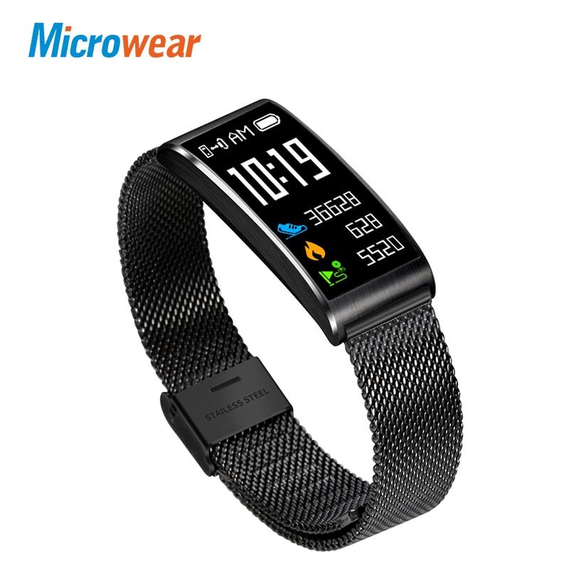 Microwear X3 IP68 Wasserdichte intelligente fitness armband schrittzähler blutdruck smart armband Android iOS fitness tracker