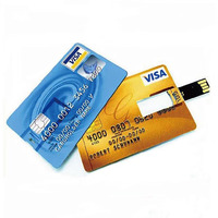 Customized Credit Card USB flash drive 4G 8G Wedding Souvenir personality Logo Business holiday gift usb flash drive 1G