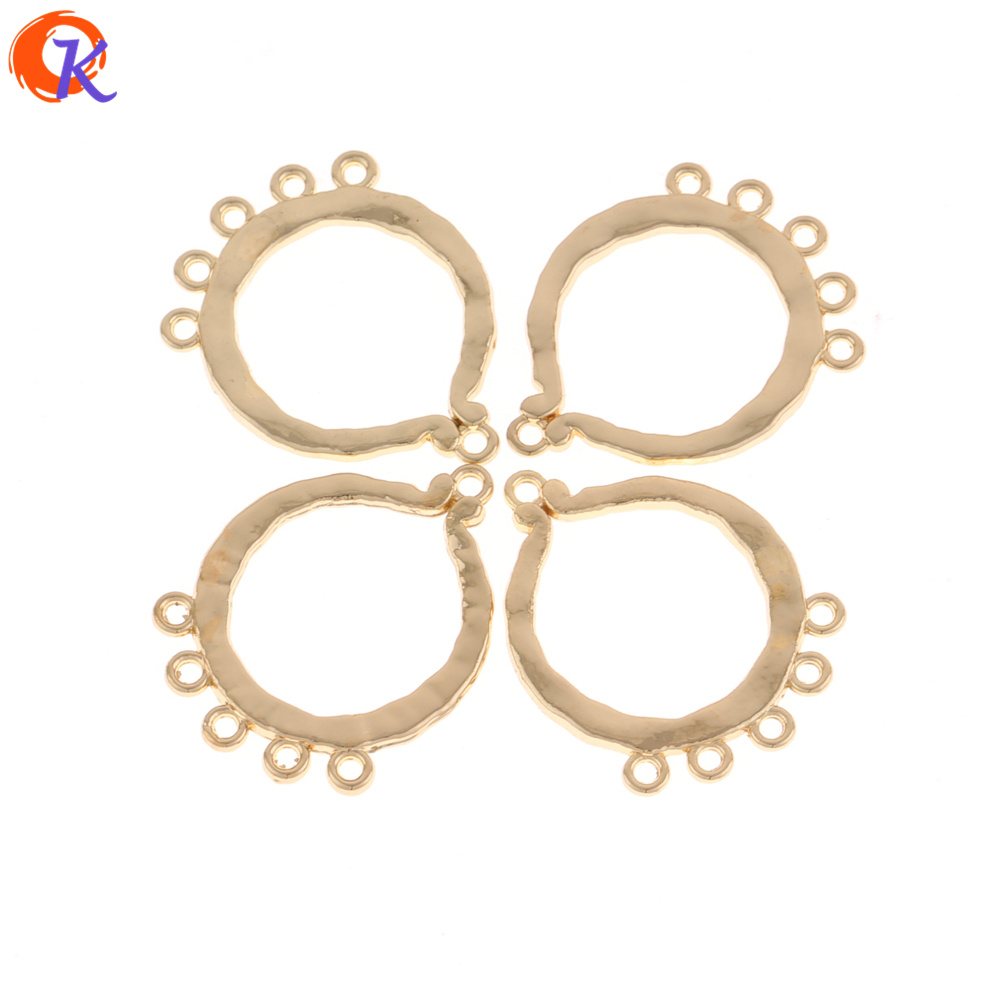 Cordial Design 50Pcs 25*33MM Jewelry Accessories/Hand Made/Zinc Alloy/Gold Round Shape/Earrings Base Making/Earring Findings