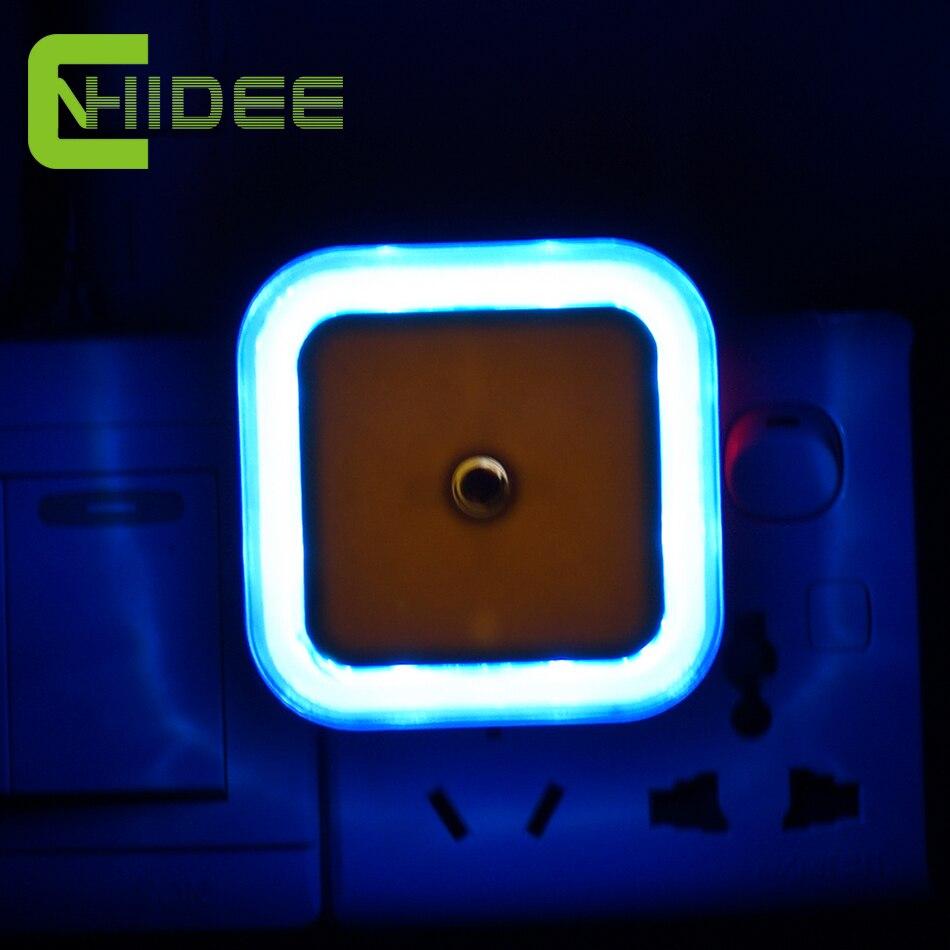 Cnhidee мини-авто датчик из светодиодов ночник AC110V-220V 0.6 Вт домашнего освещения умный ребенок спальни 4 цвет ес сша штекер ночника