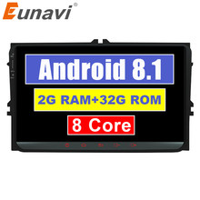 Eunavi 2 din 9 ''Android 8.1 9.0 B6 TDA7851 GPS Estéreo Rádio Do Carro para VW Passat CC Polo GOLF 5 6 Magotan Touran Tiguan Assento(China)