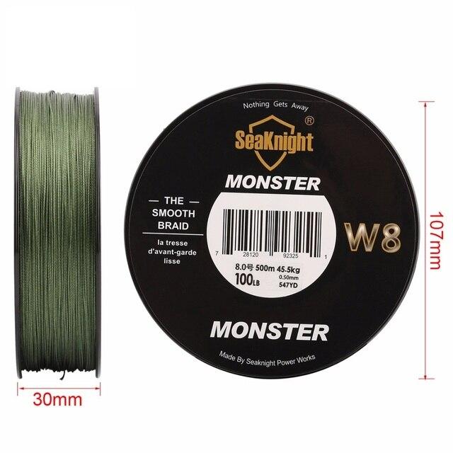 Super SeaKnight W8 Braided Fishing Line 500M Fishing Lines cb5feb1b7314637725a2e7: Black|Blue|Hi-Vis Green|Low-Vis Gray|Low-Vis Green|Yellow