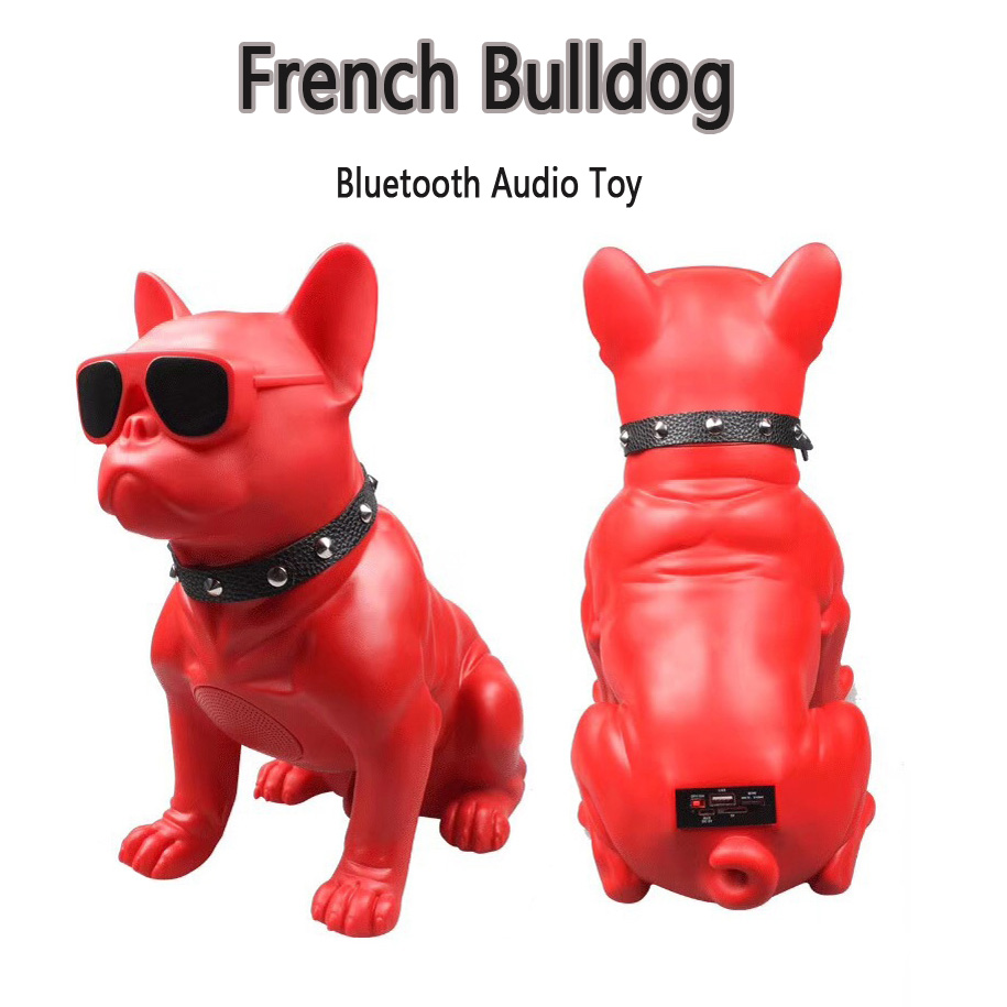 Cute French Bulldog Display Model Wireless Bluetooth Audio Speaker Toy Office Home Stress Reliever Play Music Box Jouet Gift