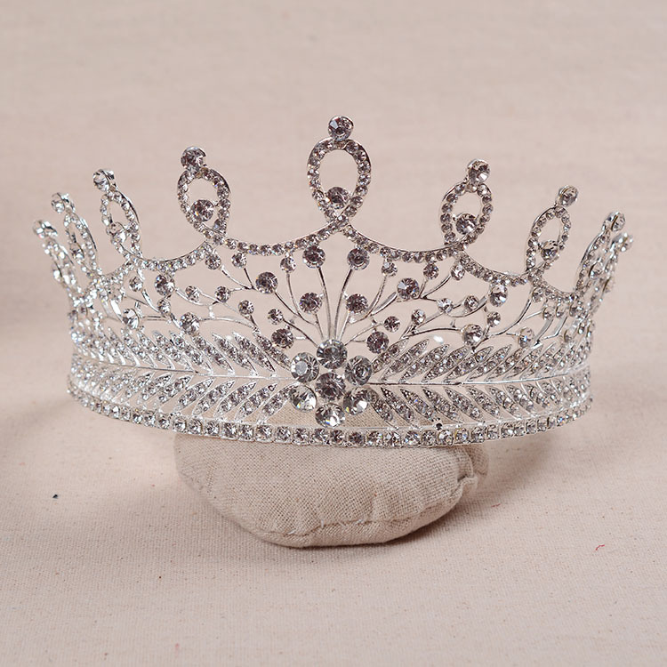 European crystal crown bride wedding hair jewelry retro baroque style tiara wholesale