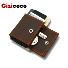2019 New Men Women Credit Card Holder Genuine Leather Card Wallet Mini Coin Purse Small Business ID Card Holder Organizer 2018 new super thin small credit card wallet women s leather key chain id card holder slim wallet female ladies mini coin purse