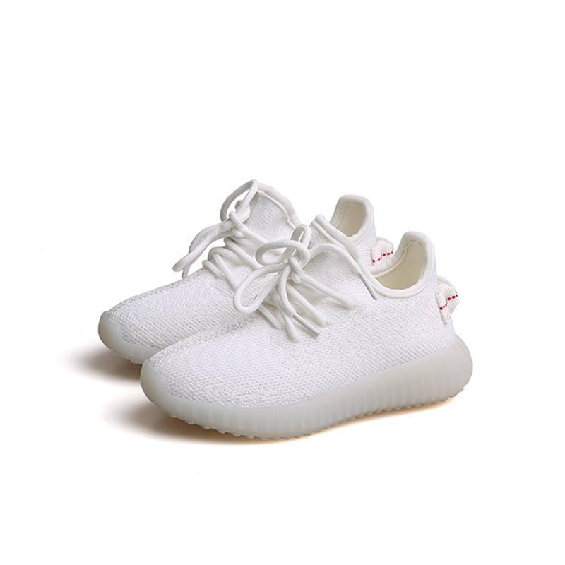 Size 26-37 Spring 2017 knitting running kids sneakers student little girls white shoes sports boys shoes children shoes girls new arrival 2016 spring models children sports shoes kids comfort shoes girls and boys fashion sneakers student running shoes
