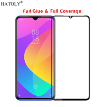 Xiaomi Mi CC9 Glass Tempered Film Full Glue Cover Protective Hard Phone Screen Protector for