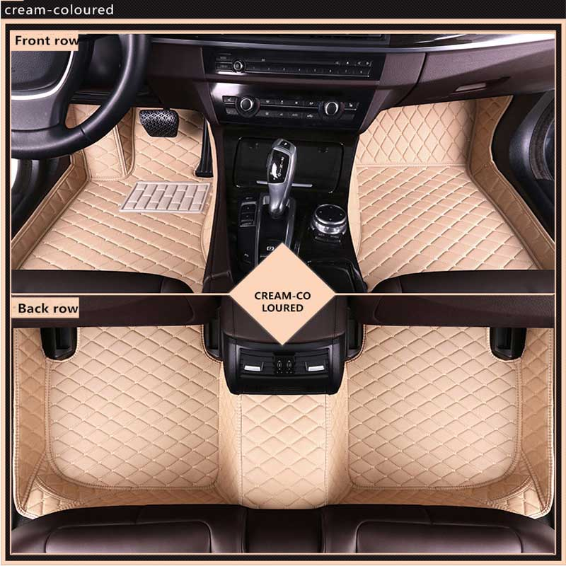 New 3D Leather Car Floor Mats For Lincoln MKX 2015 2018 Custom Auto Foot Pad Automobile Carpet Cover Waterproof Mat in Floor Mats from Automobiles Motorcycles
