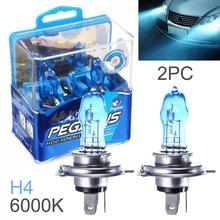 цена на 2pcs H4 100W White Light Super Bright Car HOD Xenon Halogen Lamp Auto Front Headlight