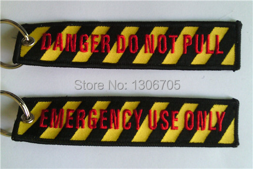 Вышивка брелок опасность не тяните аварийного использовать только