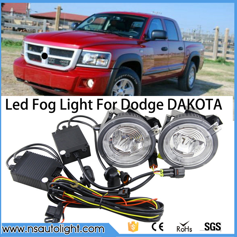 For Dodge 01-04 Dakota/01-03 Durango LED Fog Lights Set Dakota LED Bumper Fog Lights 90MM Fog Driving light for Dodge 01