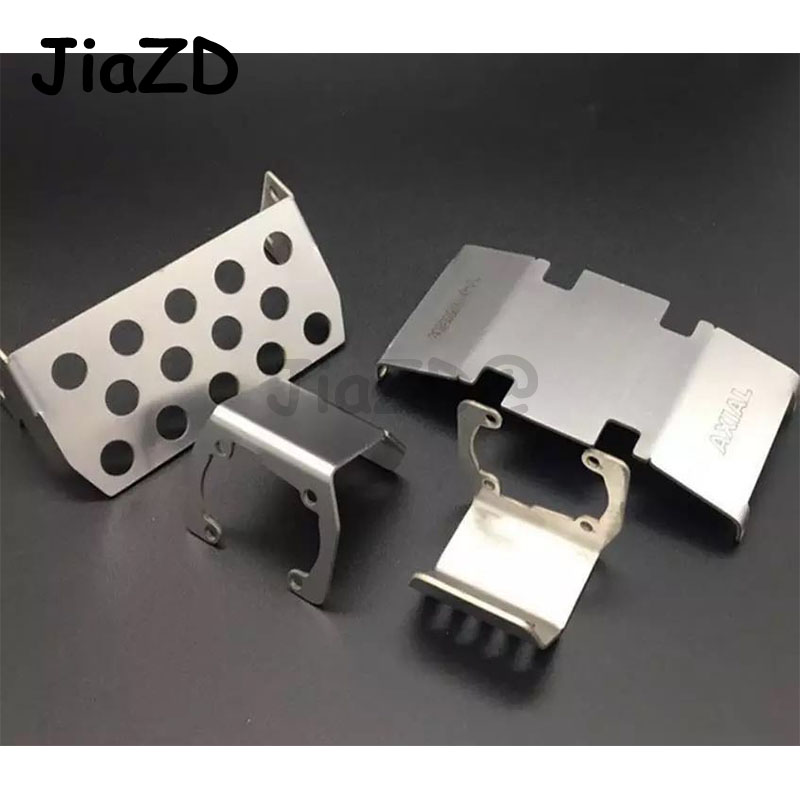 Stainless Steel Chassis Armor Protection Skid Plate For 1/10 RC Crawler Accessories TRX4 SCX10 II 90046/47 90059/60 F120BP ZXZ
