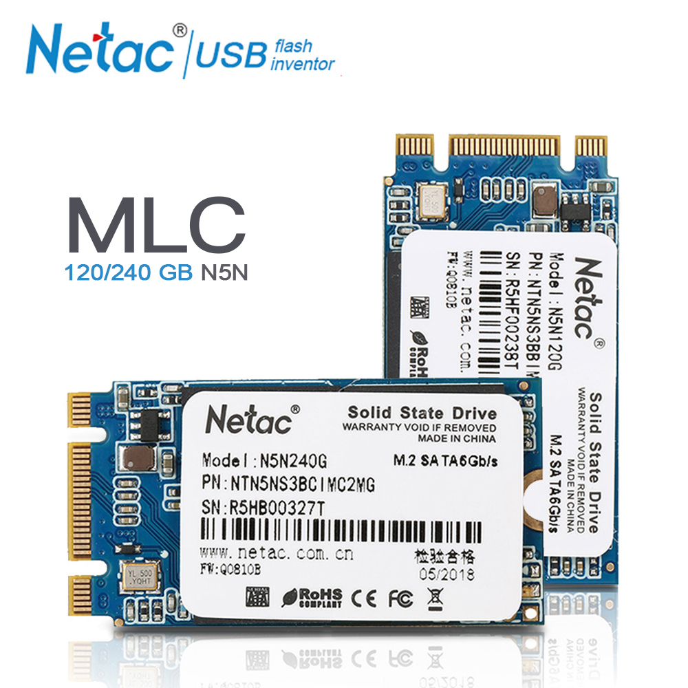 Netac M.2 2242 MLC disque dur SSD 240 GB 120 GB Interne Solid State Drive N5N M2 SSD 240 GB 120 GB disque Pour ordinateur portable