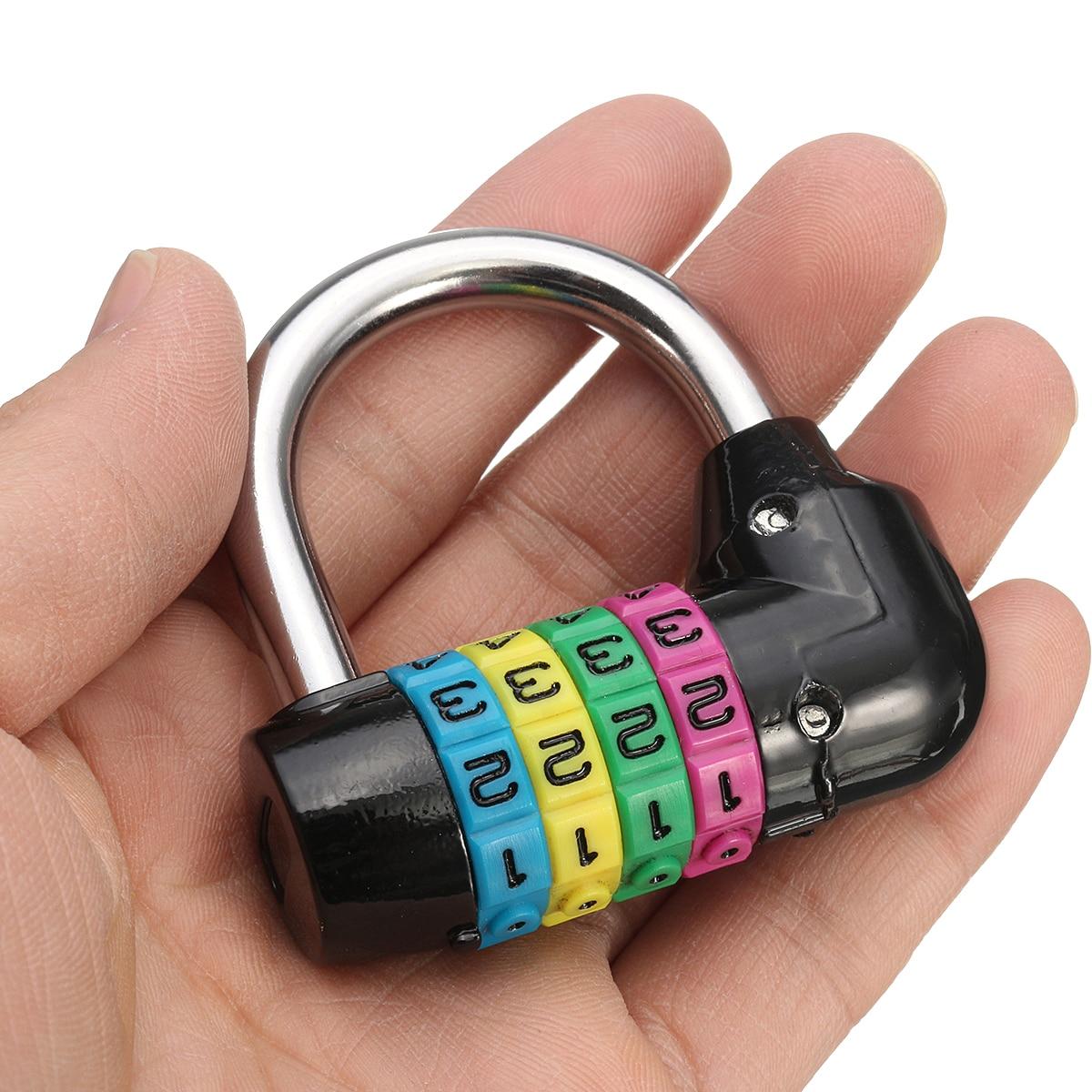 Resettab 4-значный кодовый пароль, комбинированный навесной замок, защитный замок, пароль, замок для тренажерного зала
