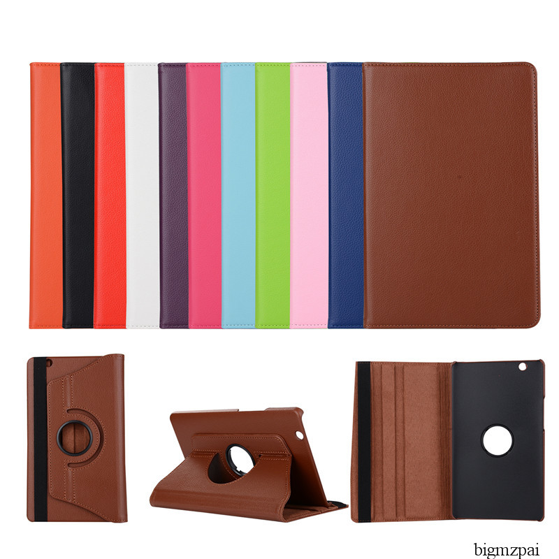 360 Rotation Litchi Style Case For Huawei Mediapad M3 8.4