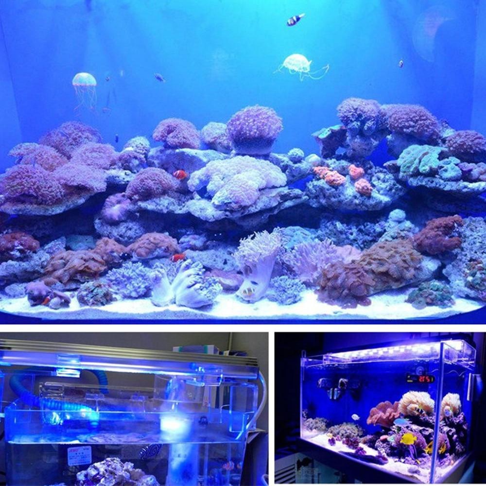 UE EE. UU. PLUG Acuario LED Light Fish Tank Blanco Azul Impermeable - Iluminación exterior - foto 4