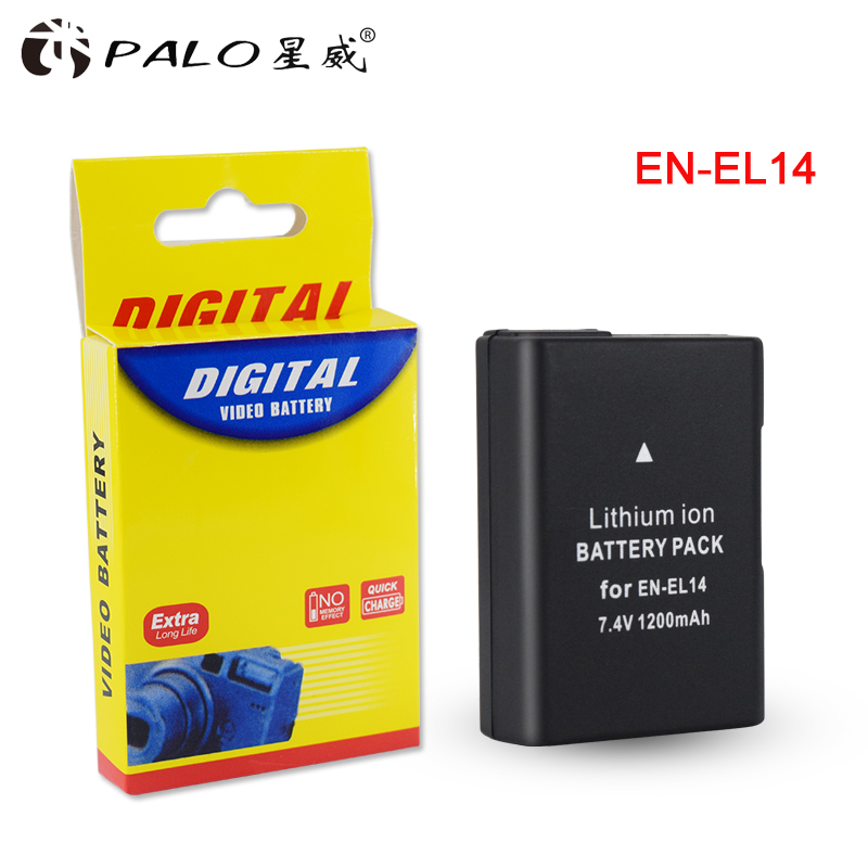 1pc EN-EL14a ENEL14 EN EL14 Battery for Nikon D5600,P7700,P7100,D3400,D5500,D5300,D5200,D3200,D3300,D5100,D3100,Df.