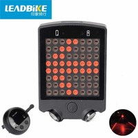 New Recommend LEADBIKE Bike Accessories Rechargeable Laser Taillight Warning Cycle Seatpost Rear Light For Bicycle LED