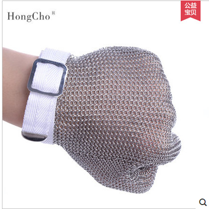 Lobster glove stainless steel metal mesh shucking glove cut proof knife proof chain mail glove