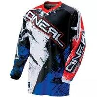 Bleu Marine Motocross T-shirts Montagne Vélo Vélo Jersey Moto À Manches Longues Vélo Jersey Moto Chemises Liquidation Ventes