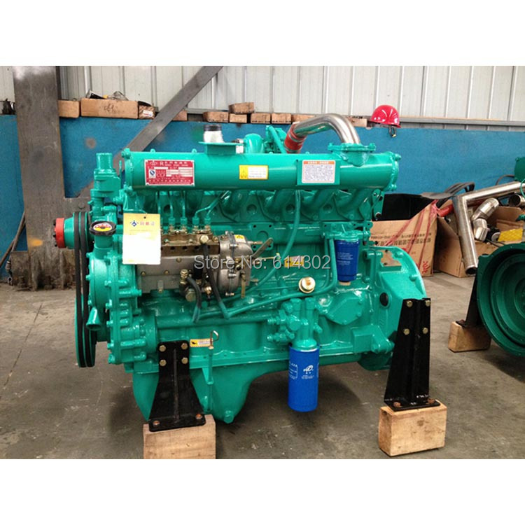 High quality weifang Ricardo 75kw R6105ZD diesel engine for diesel generator/ 6cylider diesel engine water pump diesel engine parts fit for weifang ricardo r4105 series diesel generator engine