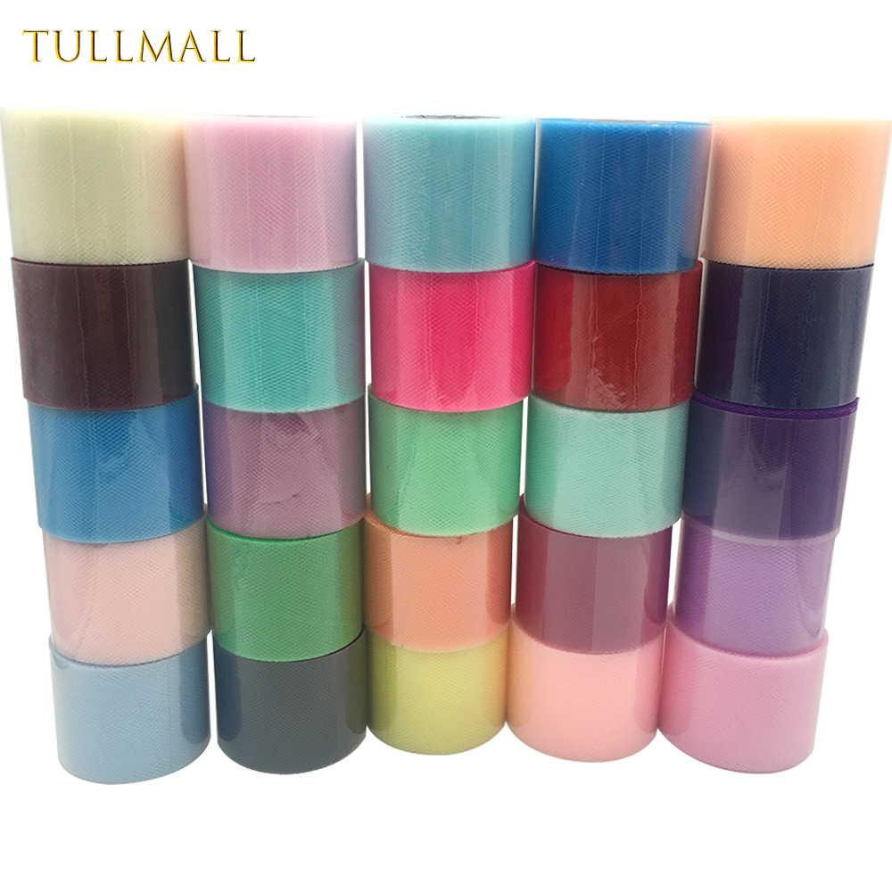 Rollos de tul de 5cm y 25 yardas para decoración de Bodas de TULLMALL, carrete para tela DIY, manualidades para el hogar, suministros festivos para eventos y fiestas