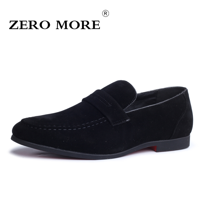 ZERO MORE Mens Shoes Casual Large Sizes Hot Sale Loafers Slip On Moccasin Solid Faux Suede Shoes Black Soft Men Shoes 2019 Red