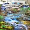 Beibehang Custom Floor Painted Wall Wallpaper Landscape Waterfall Creek 3D Floor Painting Thickened Wearable PVC Floor
