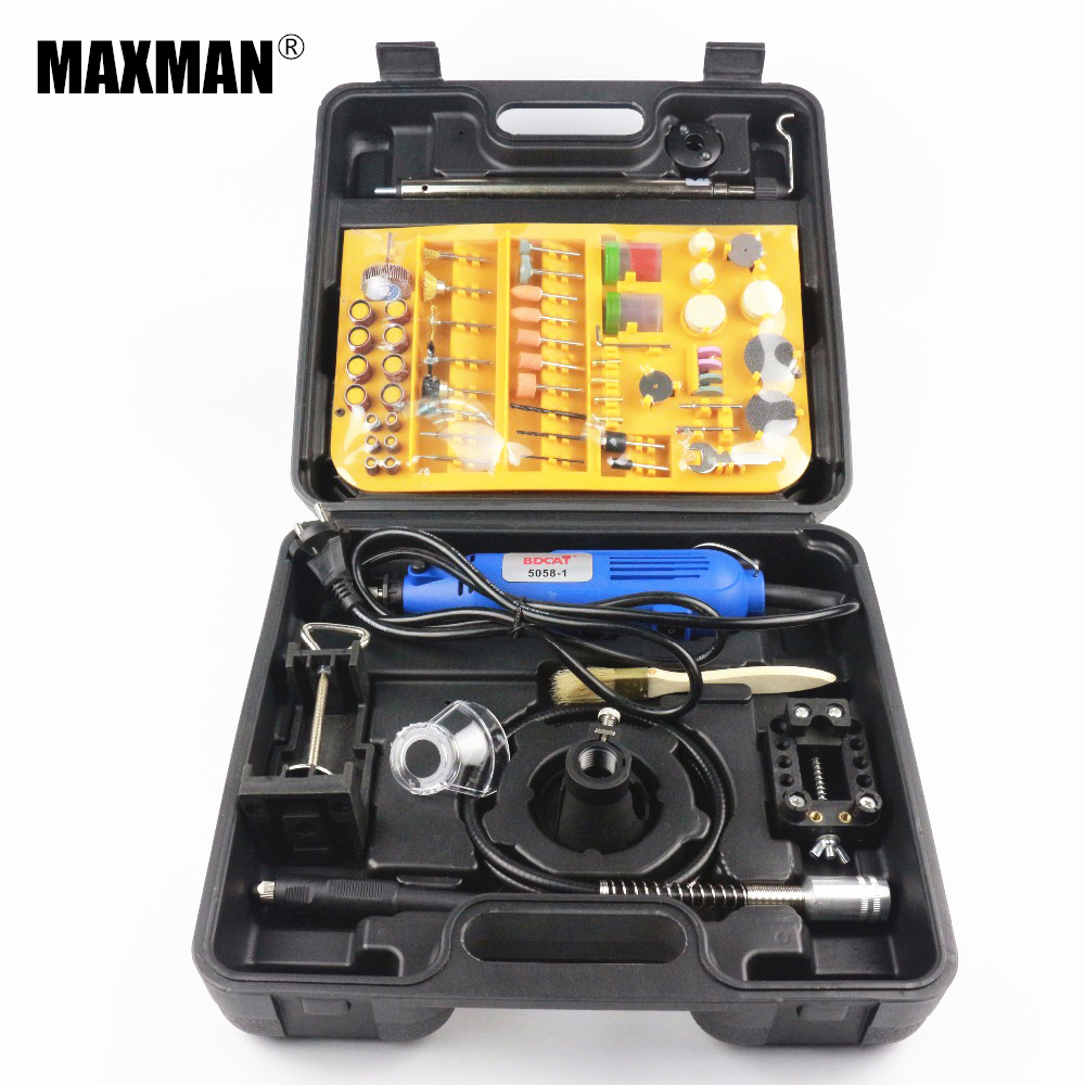 Hot Sale 220V 125W Variable Speed Electric Rotary Tool Mini Drill ElectricMini die grinder with Electric tool Accessories Box best price mgehr1212 2 slot cutter external grooving tool holder turning tool no insert hot sale brand new