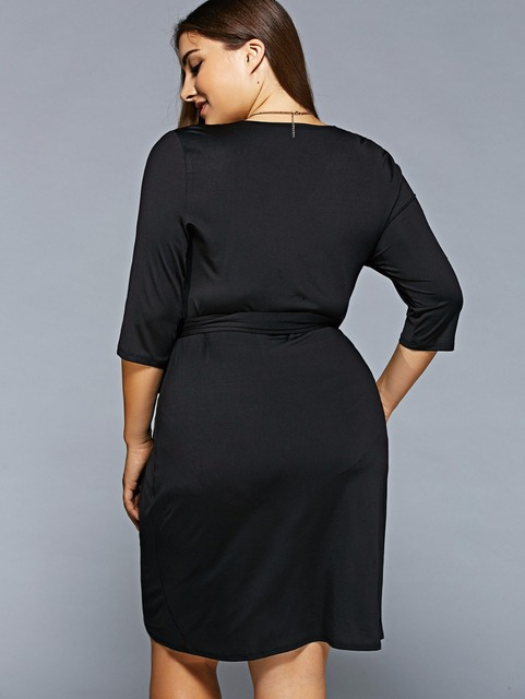 Plus Size Women Clothing Summer Dress Big Size 2017 Casual Bandage Dress Midi 6XL Black Dress 5XL Party  Vestidos Mujer