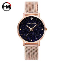 цена на Women Watches Fashion Starry Flash Stainless Steel Wristwatch Quartz Clock Waterproof Student Ladies Watch Relogio Feminino