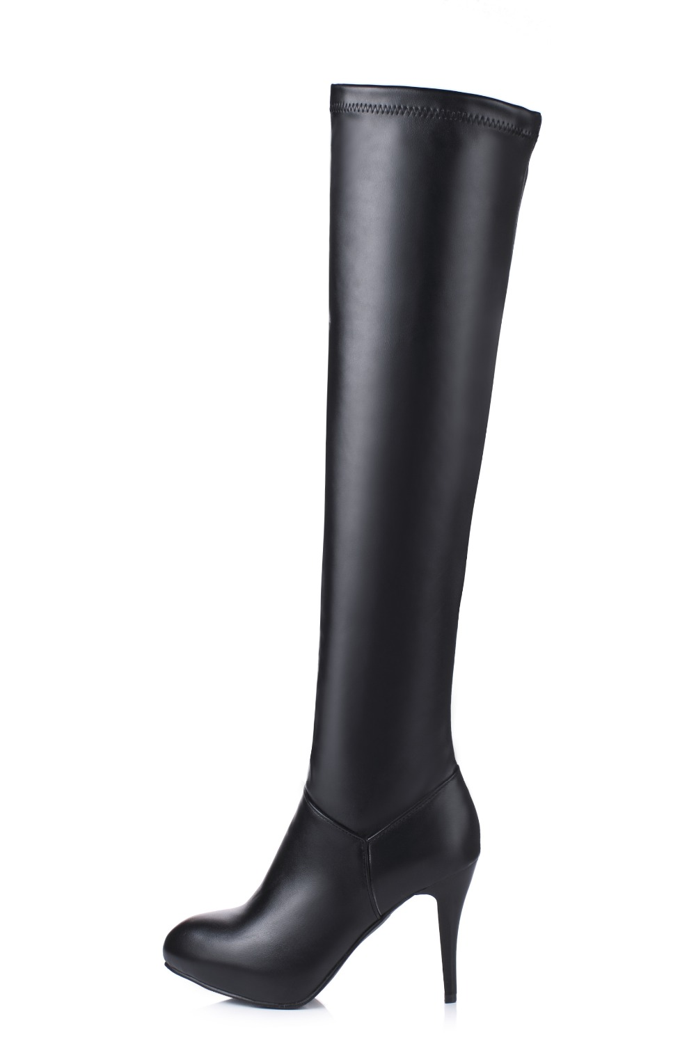 New Sexy Women Over the Knee Boots Nice Pointed Toe Thin Heels Winter Boots Elegant Brown White Shoes Woman Plus Size 3.5-13 customizable fashion women knee high boots sexy pointed toe thin heels leopard boots shoes woman plus size 4 15